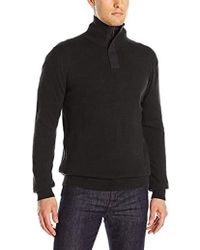 French Connection Canvas Half Zip Sweater - Black
