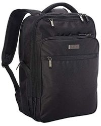 """Kenneth Cole Reaction Brooklyn Commuter Backpack Slim 16"""" Laptop & Tablet Anti-theft Rfid Business, School, & Travel Book Bag - Black"""