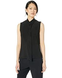 1ff06f6e1bf0b Lyst - Anne Klein Sleeveless Turtleneck Top in Black