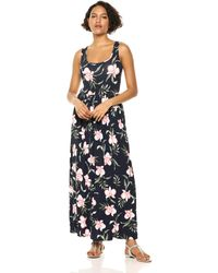 Amazon Essentials Patterned Tank Waisted Maxi Dress Dresses - Multicolore