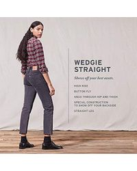 Levi's Wedgie Straight Jeans - White