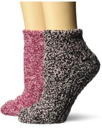 Dr. Scholls 2 Pack Soothing Spa Low Cut Lavender + Vitamin E Socks With Silicone Treads - Multicolor