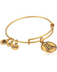ALEX AND ANI - University Of Arizona Rafaelian Gold Bangle Bracelet - Lyst