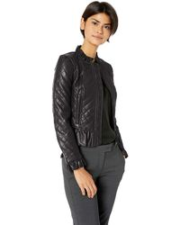 French Connection Vegan Leather Jackets Faux - Black