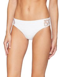 Kenneth Cole Reaction Crochet Hipster Bikini Swimsuit Bottom - White