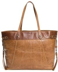 Frye Melissa Colorblock Large Carryall - Brown