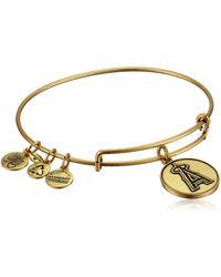 "ALEX AND ANI - ""major League Baseball"" Angels Cap Logo Rafaelian Gold-tone Expandable Bangle Bracelet - Lyst"