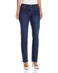 Bandolino - Petite Mandie 5 Pocket Jean, Greenwich, 14p - Lyst