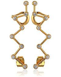 Noir Jewelry Zig-zag Ear Cuffs - Metallic