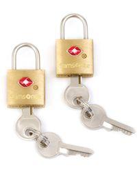 Samsonite Travel Sentry 2-pack Key Locks - Metallic