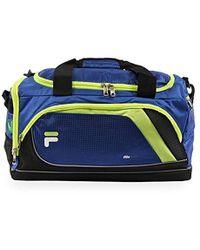 Lyst - Fila Source Sm Travel Gym Sport Duffel Bag in Black for Men 49861fb8647bd
