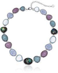 Anne Klein Nk 16in Summr Collr- Slv/blue Lace Mlt