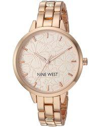 Nine West Nw/2226rgrg Rose Gold-tone Bracelet Watch - Metallic