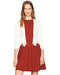 b617760d4 Tommy Hilfiger - Shrug With Lace Hem - Lyst