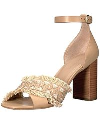 9fcd3b8c1fd Christian Louboutin Havana Forties Patent Red Sole Sandal in Natural ...