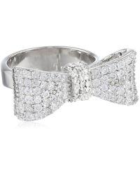 King Baby Studio Bow Ring Pave Cubic Zirconia - Metallic