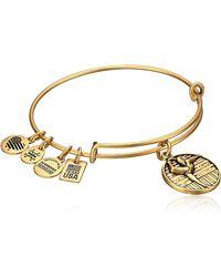ALEX AND ANI - Team Usa Gymnastics Expandable Rafaelian Gold Bangle Bracelet - Lyst