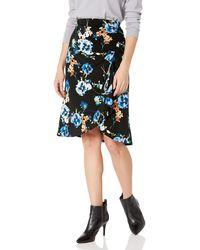 Calvin Klein Ruched Skirt - Black