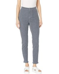 Cupcakes And Cashmere Wren Cotton Twill Engineer Stripe Skinny Pant - Blue