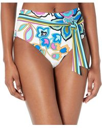 Trina Turk High Waist Hipster Bikini Swimsuit Bottom - Blue