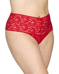 9b1934a914a7 Lyst - Hanky Panky Plus Size Retro Thong Panty in Pink