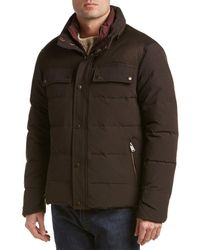 Cole Haan - Utility Down Quilted Military Jacket With Contrast Quilted Bib - Lyst