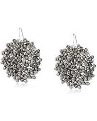 "Kenneth Cole - ""woven Item"" Black Diamond Woven Faceted Bead Drop Earrings - Lyst"