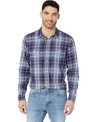 Lucky Brand Long Sleeve Clean Two Pocket Button Up Workwear Shirt - Blue