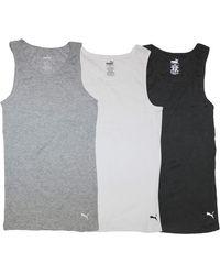 PUMA 3 Pack Ribbed Tank Tops Unterhemd - Mehrfarbig
