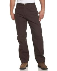 bf0d674191 Carhartt Big & Tall Washed Duck Work Dungaree B11 in Brown for Men - Lyst