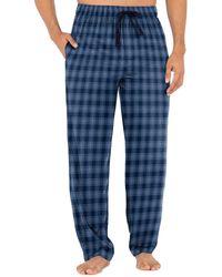 Izod Silky Fleece Sleep Pant - Blue