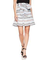 Plenty by Tracy Reese Flounced Skirt - White