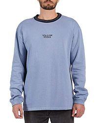 Volcom Noa Dean Noise Crew Neck Pullover Fleece - Blue