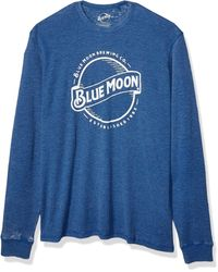 Lucky Brand Moon Thermal Tee - Blue