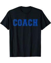 COACH Blue T-shirt - Yellow