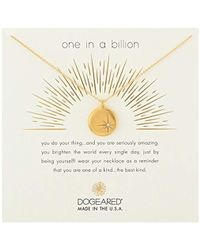 """Dogeared - One In A Billion, Sparkle Star Disc Chain Necklace, 16""""+2"""" Extender - Lyst"""