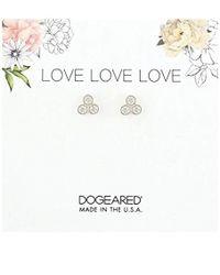 Dogeared - Love Trio Stud Earrings - Lyst
