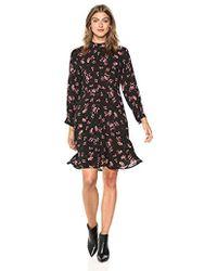 Velvet By Graham & Spencer - Juliet Printed Challis Dress - Lyst