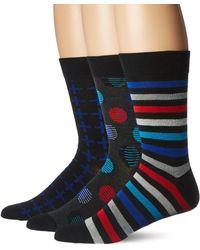 Hanes - 3-pack Dress Casual Crew Flat Knit Socks - Lyst