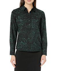 Lark & Ro Long Sleeve Popover Collared - Green