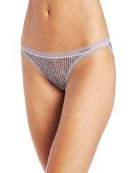 2c4c45f50 Calvin Klein Icon String Bikini Panties in Purple - Lyst