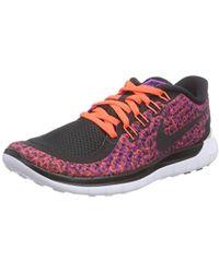 e3ca2ea50240 Nike - Free 5.0 Print Vivid Purple hyper Orange white black 5.5 B