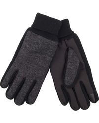 Levi's Jersery Touchscreen Gloves With Stretch Fabric Grip - Gray