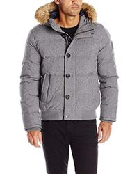 f875e4334f856 Tommy Hilfiger - Arctic Cloth Quilted Snorkel Bomber Jacket With Removable Faux  Fur Trimmed Hood -