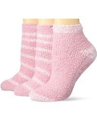 Dr. Scholls Soothing Spa Low Cut Gripper Socks - Pink