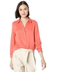 Equipment Solid Silk Poplin Essential Shirt - Pink