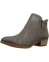 Lucky Brand Basel 3 Leather Ankle Boots - Brown