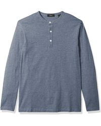 Theory , Essential Henley Ls, Frost, X-small - Blue