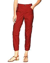 Rafaella Ripstop Ankle Cargo Pant - Red