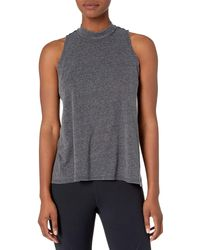 Core 10 Tri-blend Mock Neck Workout - Black